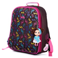 Russia Lovely children free Doll high-grade fashion school bag girl kids students child cartoon travel backpack Stationery bags