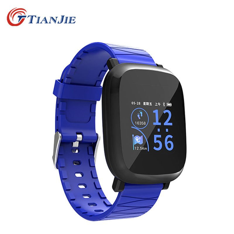 TIANJIE M30 SmartWatch Smart Watch Bluetooth Pedometer gelang pintar Lelaki Wanita Montre Connecter Smart Watches Untuk Android IOS