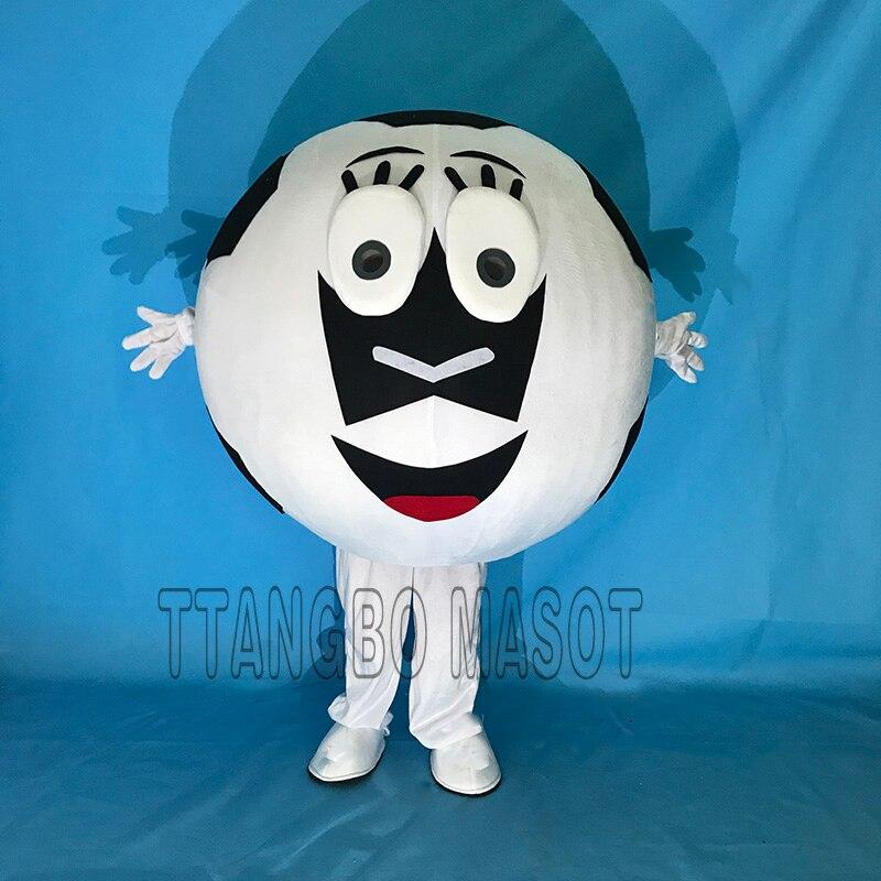 Лидер продаж Профессиональный Маскоты костюм для взрослых Размеры Хэллоуин Cosply Необычные платья милый Футбол Маскоты костюм