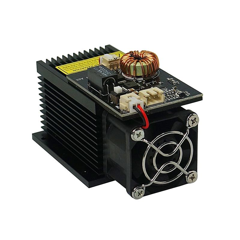 7000 mw 10000 MW 15000 MW Laser Module tête de bureau diode 450NM focalisation bleu gravure machines-outils Tube