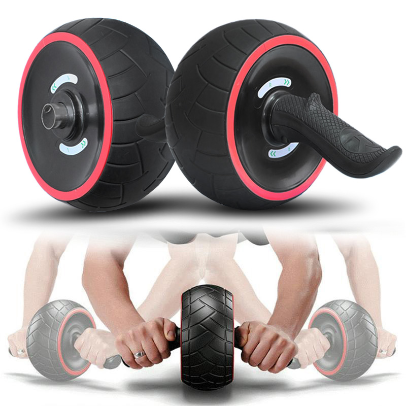 No Noise Abdominal Wheel Round Core Trainer Waist Arm Strength Exercise Crossfit Press Gym Home Fitness Equipment Free shipping!