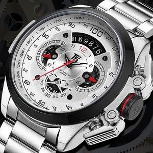 Image 5 - T5 מותג יוקרה שחור זהב זכר שעון צבאי קוורץ ספורט שעון יד גברים הכרונוגרף עמיד למים Mens שעוני ספורט שעוני יד