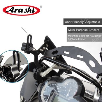 Arashi Windscreen Bracket Mount CNC-machined Reinforcement Support For BMW R1200GS 2013-2018 Adjustable Windshield Holder