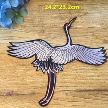 New Arrival Iron-on Patch 1pc Chinese style Crane For Women Classical Symbol Bird Custom Clothes Big Animal Vogue