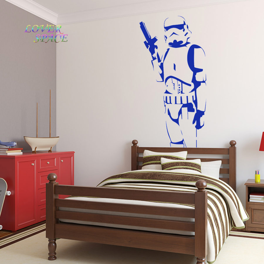 Star wars poster large storm trooper vinyl wall sticker wall art star wars poster large storm trooper vinyl wall sticker wall art silhouette wall decal big mural decorative wall stickers in wall stickers from home amipublicfo Image collections