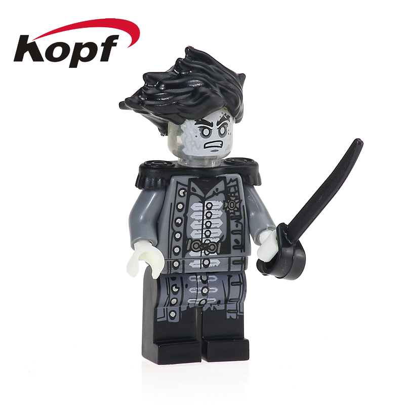 Pirates of the Caribbean Lesaro Captain Henry Santos Magda Building Blocks Super Heroes Bricks Action Toys for children PG1003 building blocks super heroes back to the future doc brown and marty mcfly with skateboard wolverine toys for children gift kf197