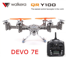 Original Walkera QR Y100 with DEVO 7E transmitter  6-Axis FPV Hexacopter Drone with Camera IOS/Android System phone Control RTF