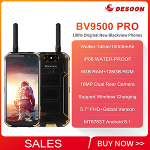 Image 2 - Walkie Talkie Blackview BV9500 Pro Mobile Phone 4G Android 8.1 6GB+128GB Smartphone 10000mAh Battery NFC Wireless Charge Phone