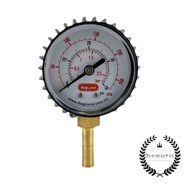Homebrew Adjustable Pressure Valve   8mm 5/16 Push In Pressure Gauge 0-40psi    HOME BREW