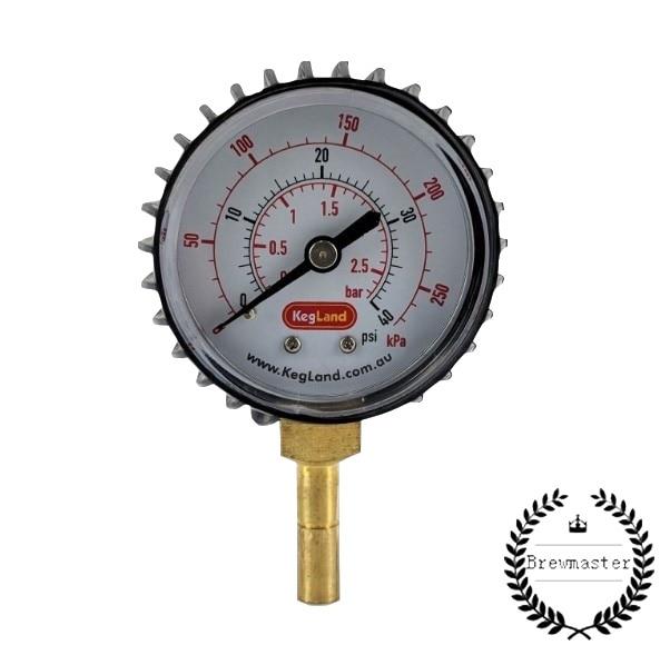 Homebrew Adjustable Pressure Valve   8mm 5/16 Push In Pressure Gauge 0-40psi    HOME BREW