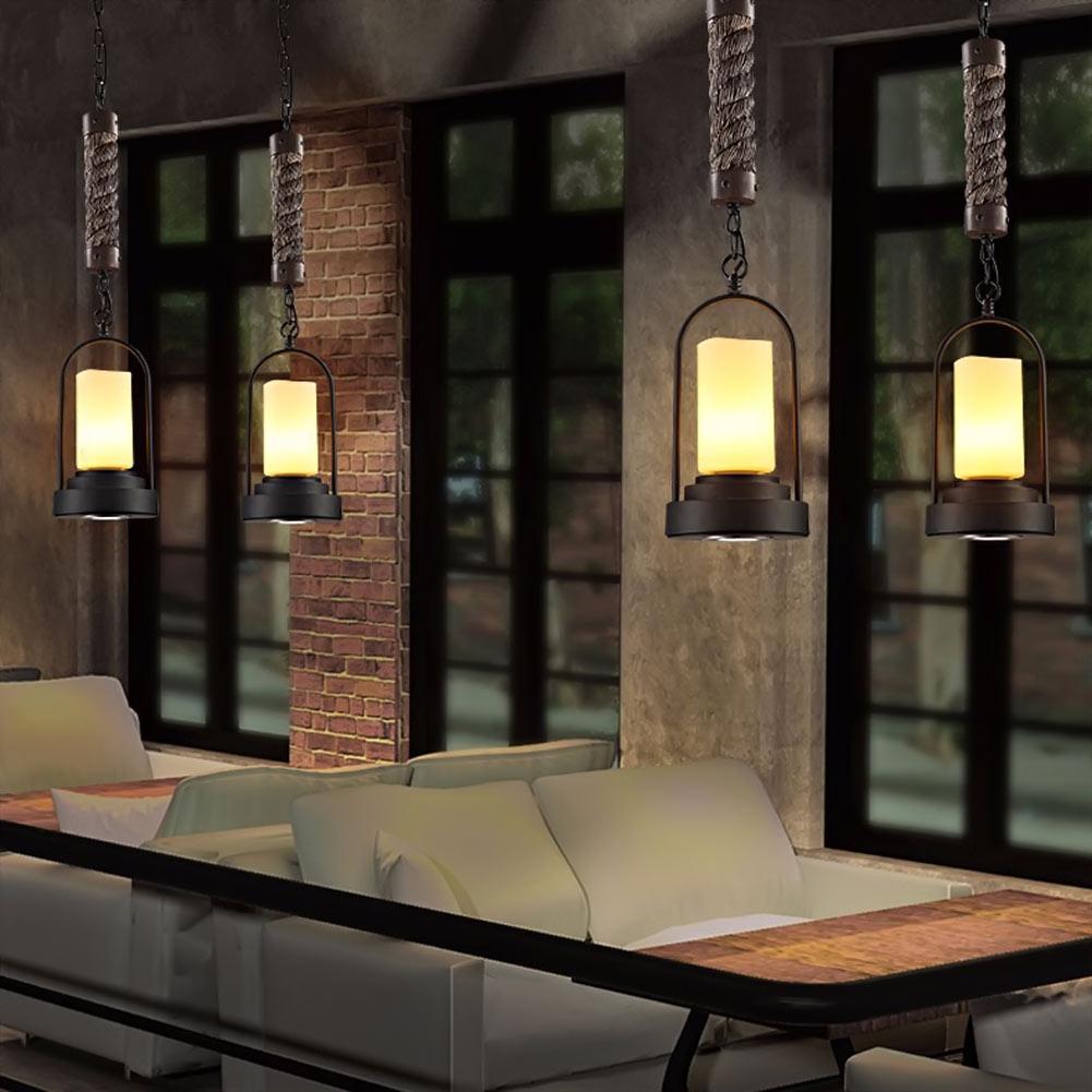 European Style Retro Industrial Art Led Candlestick