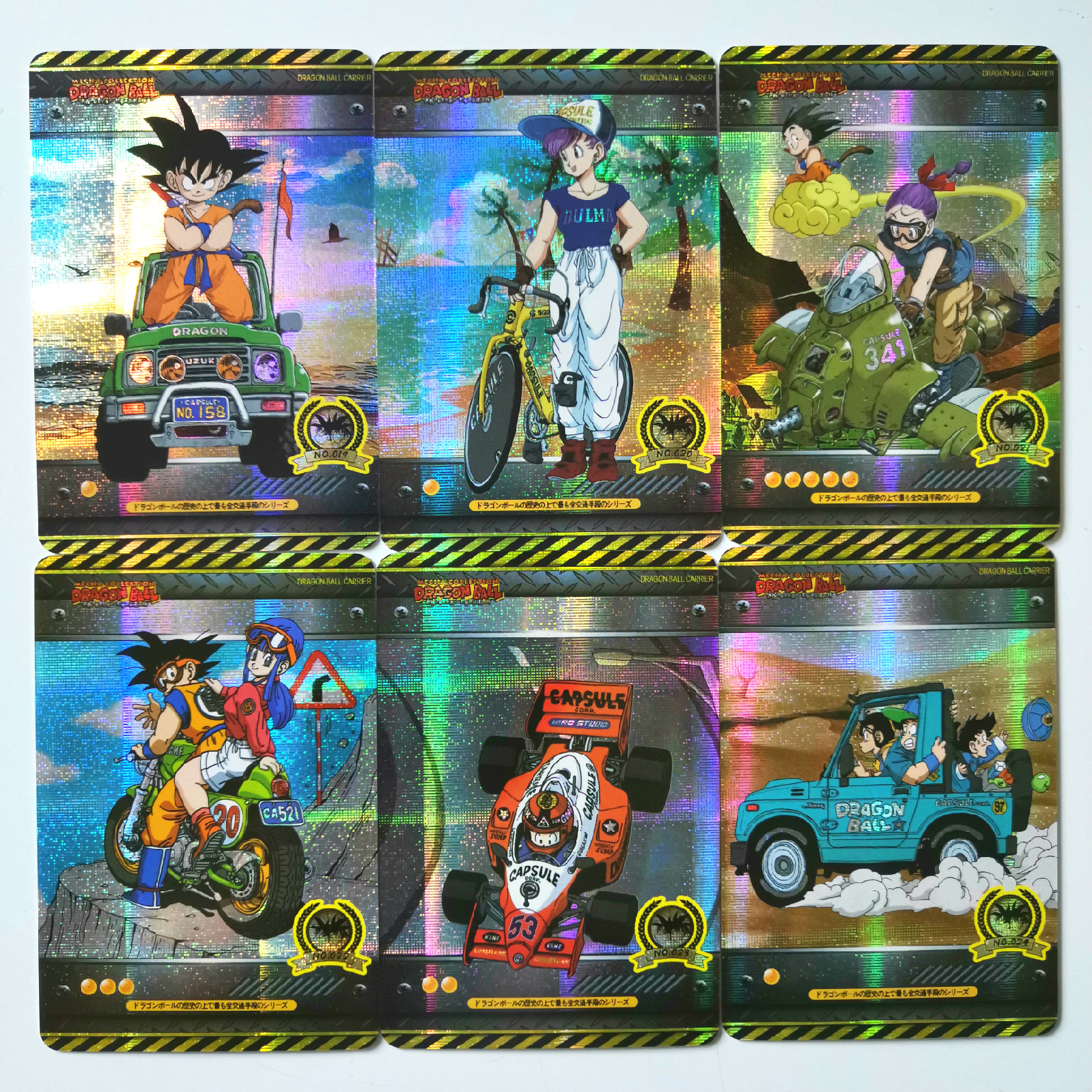 18pcs Super Dragon Ball Z Vehicle Heroes Battle Card Ultra Goku Vegeta Game Collection Cards