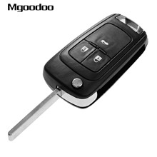 Mgoodoo 3 Buttons Car Flip Folding Remote Key Shell Case Fob For Vauxhall Opel Astra Insignia Aveo Cruze Covers Uncut Blade