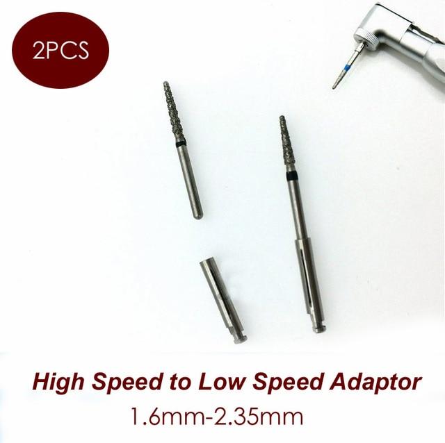 US $5 28  2pcs Dental Burs Adaptor FG High Speed Diamond Burs and Low Speed  Contra Angle Diamond Burs and Carbide Burs 1 6mm 2 35mm-in Teeth Whitening