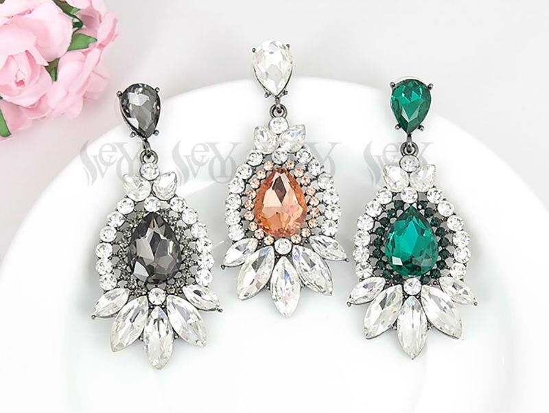 1e8421d0e181 JURAN nueva moda gran flor gota pendientes colgantes para mujer encanto  lujo boda declaración joyería pendientes