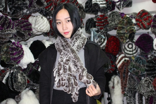 2013 real fur free shopping  rex rabbit hair muffler scarf phoenix tail grape bunch tassel fur scarf women's thermal