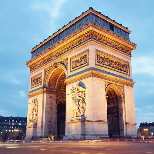 Arc de triomphe european architecture wallpaper paris city for Arc de triomphe wall mural