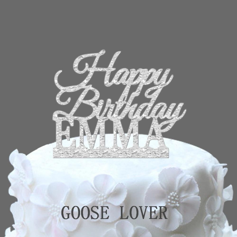 Aliexpress Buy Custom Name Happy Birthday Cake