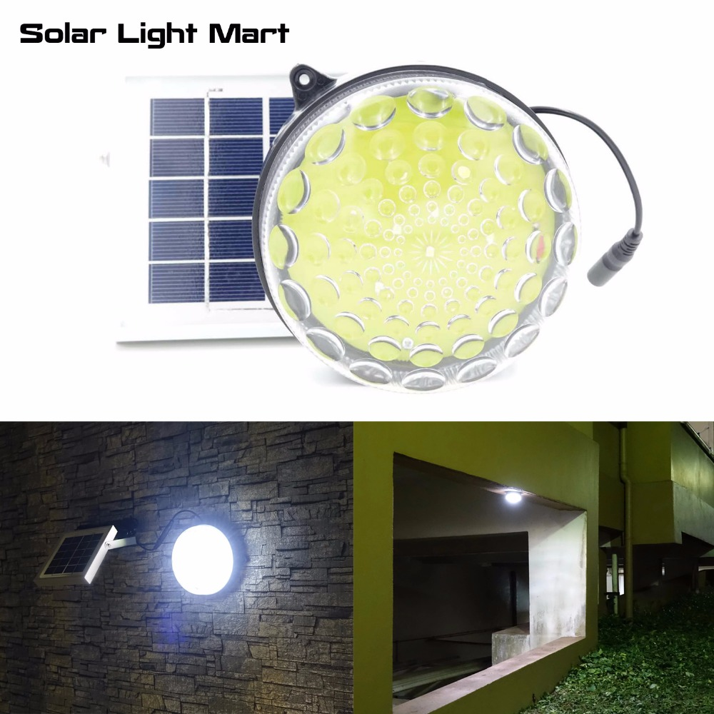 ROXY Outdoor Indoor Waterproof Auto 3 Power Modes Solar Powered LED Shed Light Kit for Garage
