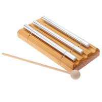 HOT SALE Energy Chime Three Tone With Mallet Exquisite Kid Children Musical Toy Percussion Instrument