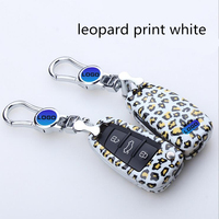 2017 noble style Car key shell For Audi Keyle leopard print style Car key ring for Audi A4L A6L Q5A8L A7 S8 S7 Key with gift box