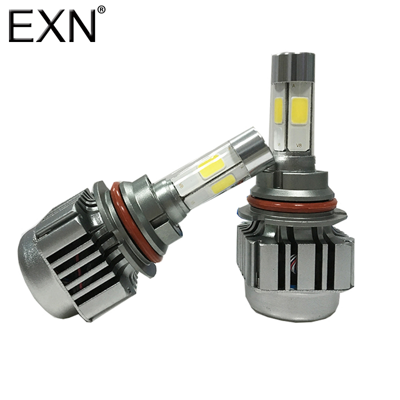 9007 LED Headlight Conversion Kit All Bulb Sizes 80W 8000LM 4 COB LED Per Bulb Replaces Halogen&HID Bulbs High Power LED Bulb