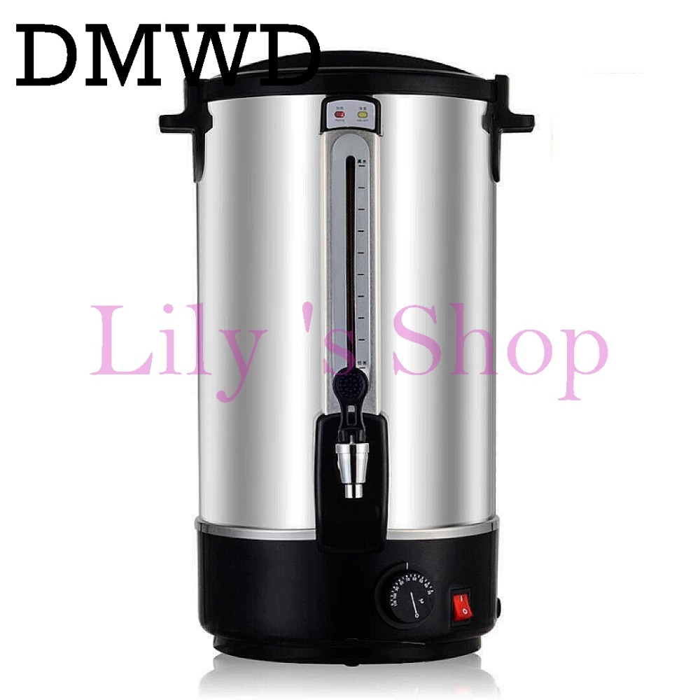 Automatic electric water boiler Insulation water pail bucket commercial energy-saving stainless steel electric kettle 1500w 16L купить недорого в Москве