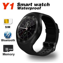 Fu&y Bill Y1 Round Bluetooth 3.0 Smart Watch Support Nano SIM &TF Card Men Women Classical Business Smartwatch for IOS Android
