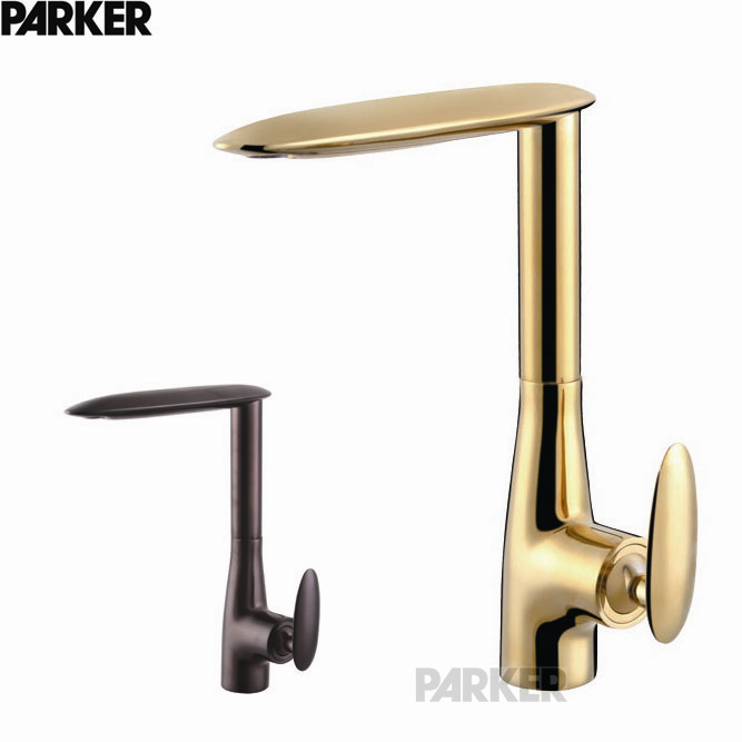 Copper titanium gold casting bronze brown European kitchen faucet kitchen faucet basin faucet drawing
