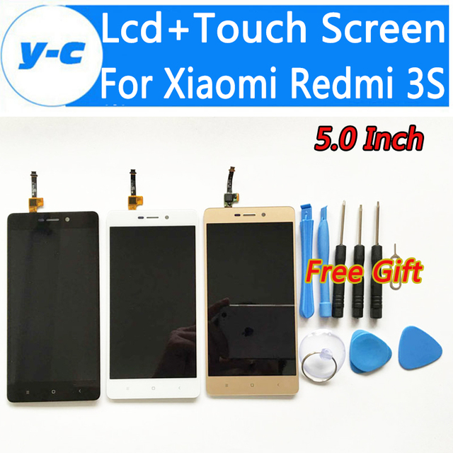 For Xiaomi Redmi 3S LCD Display+Touch Screen New Arrived Panel Replacement For Xiaomi Redmi 3S Pro Prime 1280X720 HD 5.0inch