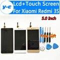 Para xiaomi redmi 3 s display lcd + substituição do painel de tela de toque new chegou para xiaomi redmi 3 s pro prime 1280x720 hd 5.0 polegada