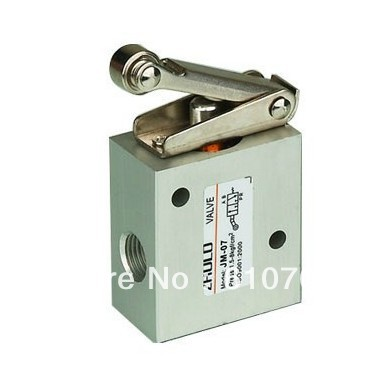 Air Drive Pneumatic JM-07 1/4 BSPT Thread Roller Type Solenoid Air Pneumatic Mechanical Valve 2 Position 3 Way 0 - 8kgf/cm2 tv 3s pneumatic toggle valve 5mm thread 2 position 3 way mechanical air pneumatic valve