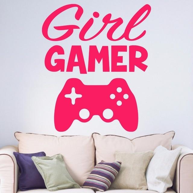 Girl Gamer Joypad Game Consoles Teenagers Girls Room Bedroom Living ...