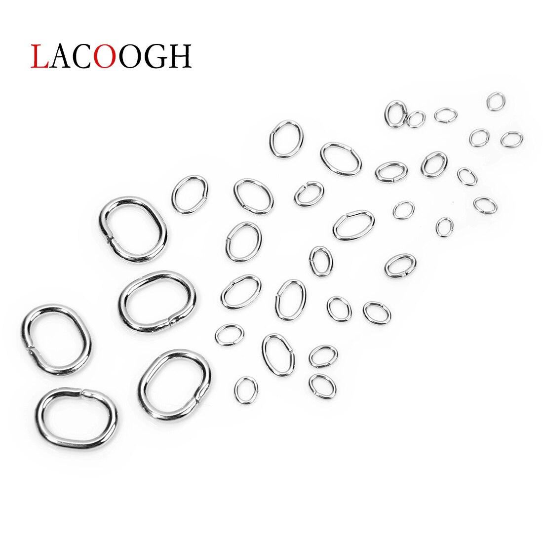 Кольца из нержавеющей стали с одиночными петельками 100 шт/лот