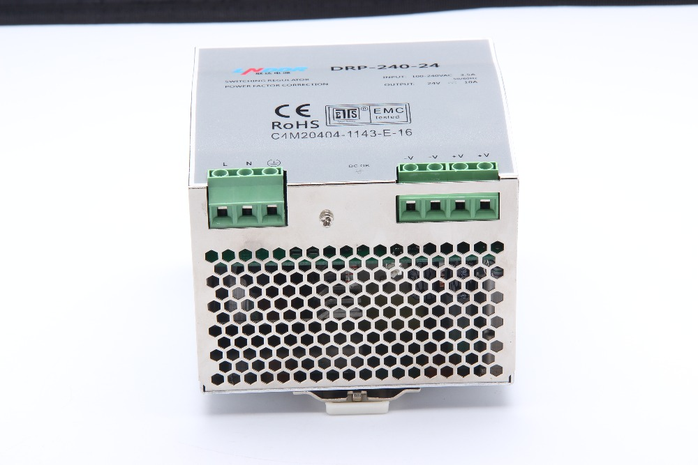 10A Din rail Single Output Switching power supply ac dc converter SMPS DR-240-24 240W 24V dr 240 12 240w 12v 20a din rail single output switching power supply ac dc converter smps