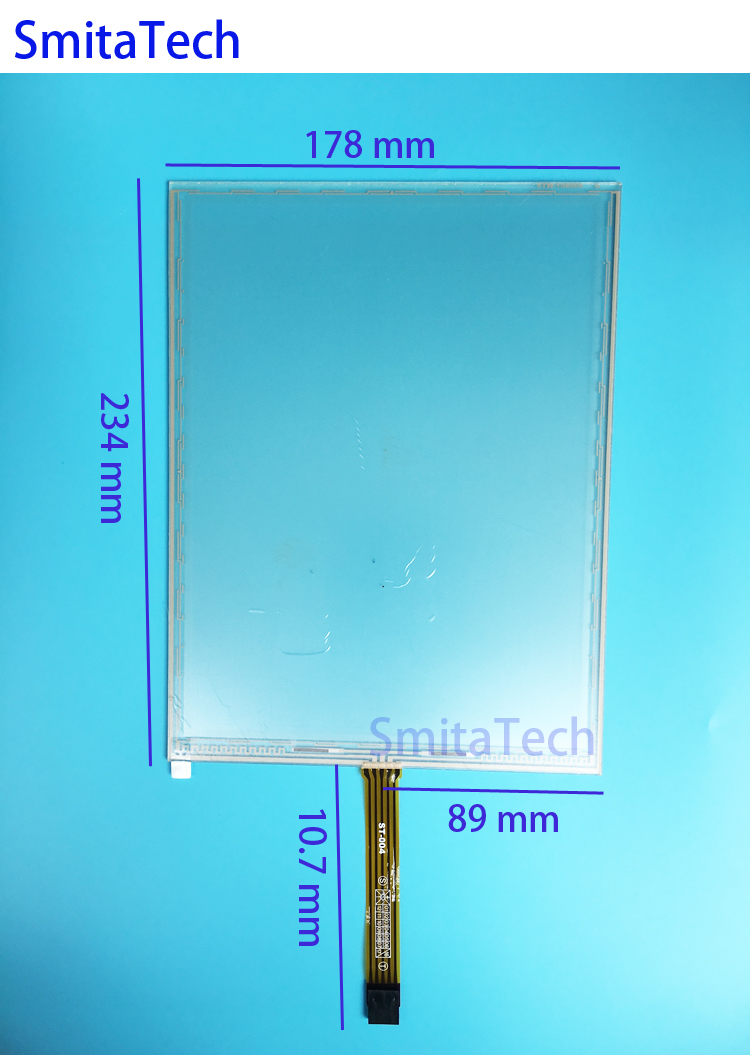 10.4'' 5 wire STW-104008 234x178mm Resistive Touch screen Digitizer panel 234mm*178mm