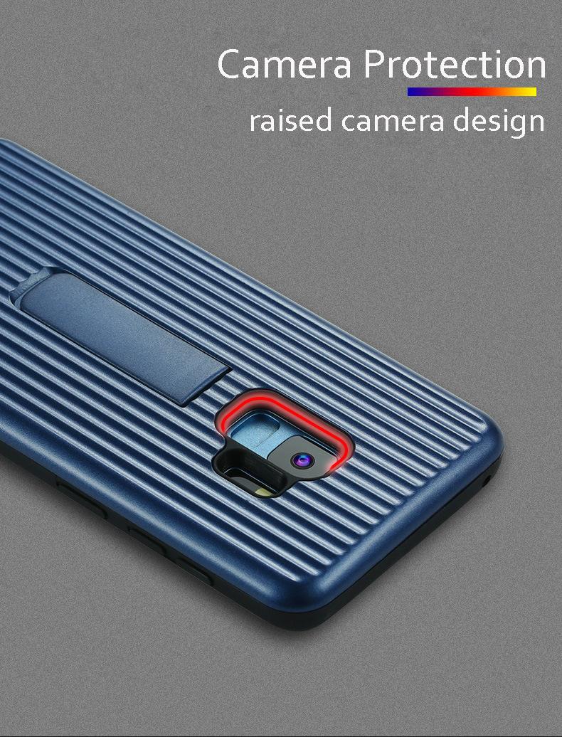 Vertical Protective Folding Bracket Anti-Skid Design Phone Case For Samsung  S9/S9Plus