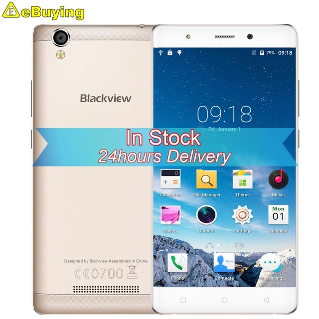 Original Blackview A8 Smartphone Android 5.1 MTK6580A Quad Core Cellphone 5.0inch Screen 1GB RAM 8GB ROM 8MP Cam 3G Mobile Phone