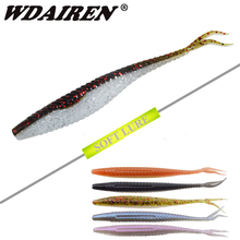 5Pcs/lot 120mm 7g Soft Bait Vivid Worm With Salt smell Artificial Jig Swim Shad Minnow Fishing Tackle Fishing Lures Peche WD-337