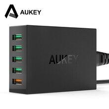 AUKEY Быстрая Зарядка 2.0 54 Вт 5 Порт Micro USB Для Рабочего Зарядное Устройство Мобильного QC2.0 Уолл Зарядка ЕС США Plug для iPhone Samsung S6 SONY HTC(China (Mainland))