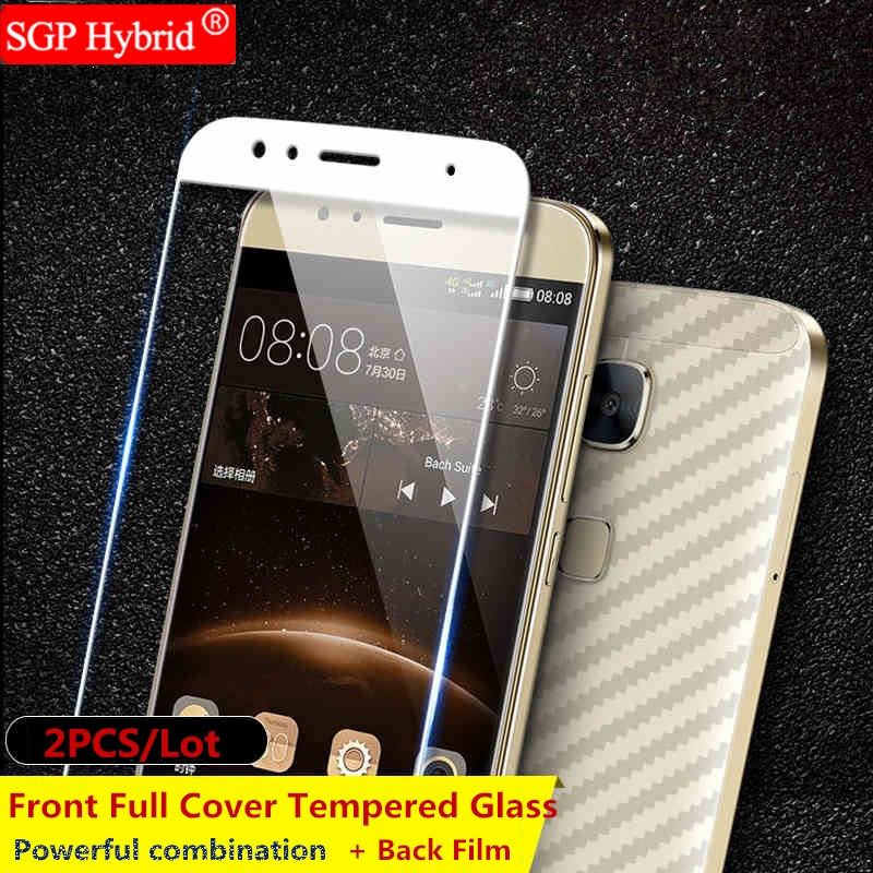 9H Front Full Cover Tempered Glass + Back Film 2PCS Screen Protector for Huawei Honor 8 Mate 9 P9 Lite Plus P9lite P9plus Case
