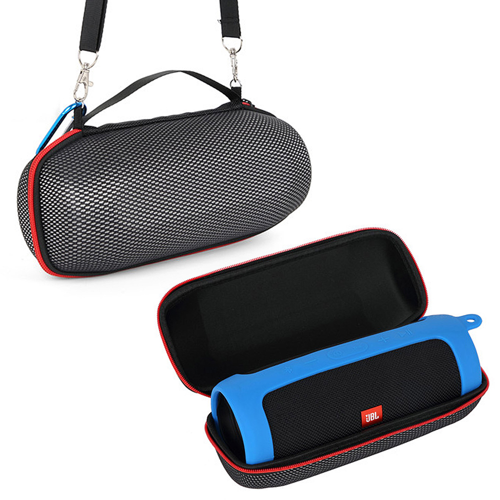 2 in 1 Hard EVA Carry Zipper Storage Box Bag + Soft Silicone Case Cover For <font><b>JBL</b></font> <font><b>Charge</b></font> <font><b>4</b></font> Bluetooth <font><b>Speaker</b></font> for <font><b>JBL</b></font> <font><b>Charge</b></font> <font><b>4</b></font> Case image