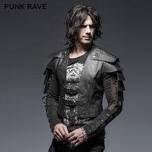 Панк рейв Рок Мода для мужчин Косплей вечерние Armor Warrior короткая куртка Y632