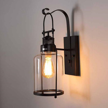 Industry retro loft wall lamp Bedroom stair aisle corridor living room blacony restaurant cafe light E27 wall lamp bra sconce retro lamp wall sconce modern wall light glass ball dining bedroom e27 wall lamp restaurant aisle corridor pub cafe wall lights