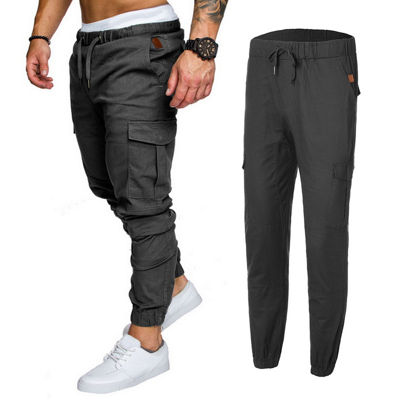 fbbc94f84d02 Men s cargo pants casual multi pocket trousers pantalon homme male Joggers  sweatpant sports Gym Harem Pant Bottom Plus size 3XL-in Sweatpants from  Men s ...
