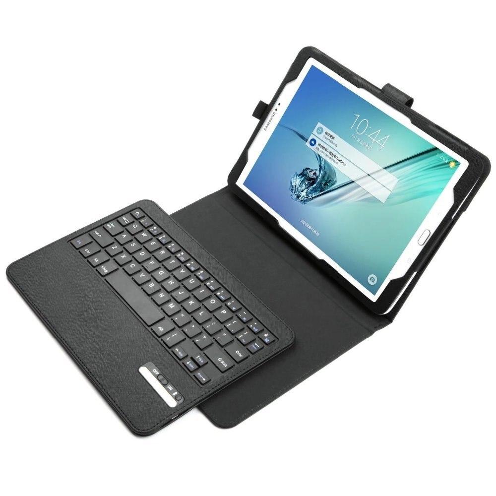 Para O Caso Teclado Samsung Galaxy Tab S2 97 T810 T815 Ultra Fino Rotating Leather Flip Case Cover 8amp039 T715 T719 Bluetooth Destacvel Fique Portfolio Capa Em Tablets E Livros De