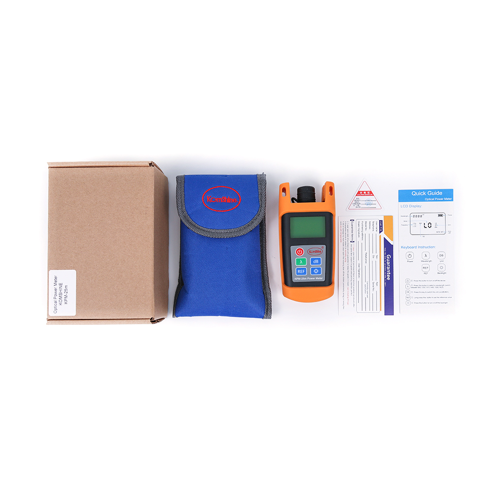 KomShine KPM 25 OPM optical power meter  with SC/UPC connector-in Fiber Optic Equipments from Cellphones & Telecommunications