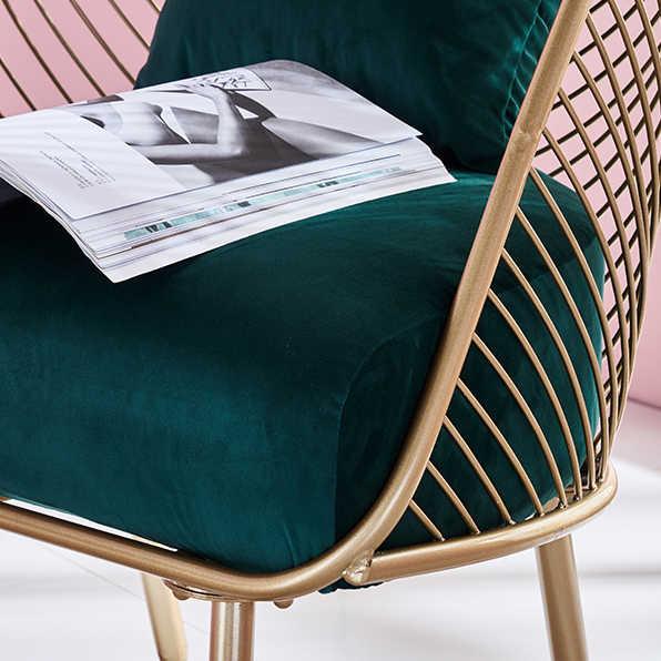 2019 nouveau métal acier loisirs chaise fer fil chaise creux à manger café métal Bar chaises banane feuille mariage chaise