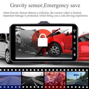 "Image 5 - Dash CAM Dual Lens Full HD 1080P 4 ""IPSรถDVRกล้องด้านหน้า + ด้านหลังNight Visionเครื่องบันทึกวิดีโอG Sensorโหมดที่จอดรถWDR"