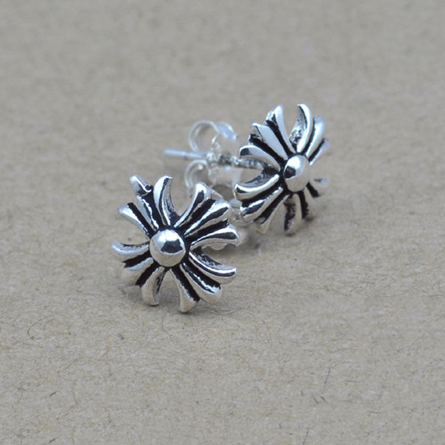 925 Silver Cross Earrings For Women Men Jewelry Vintage boucle d